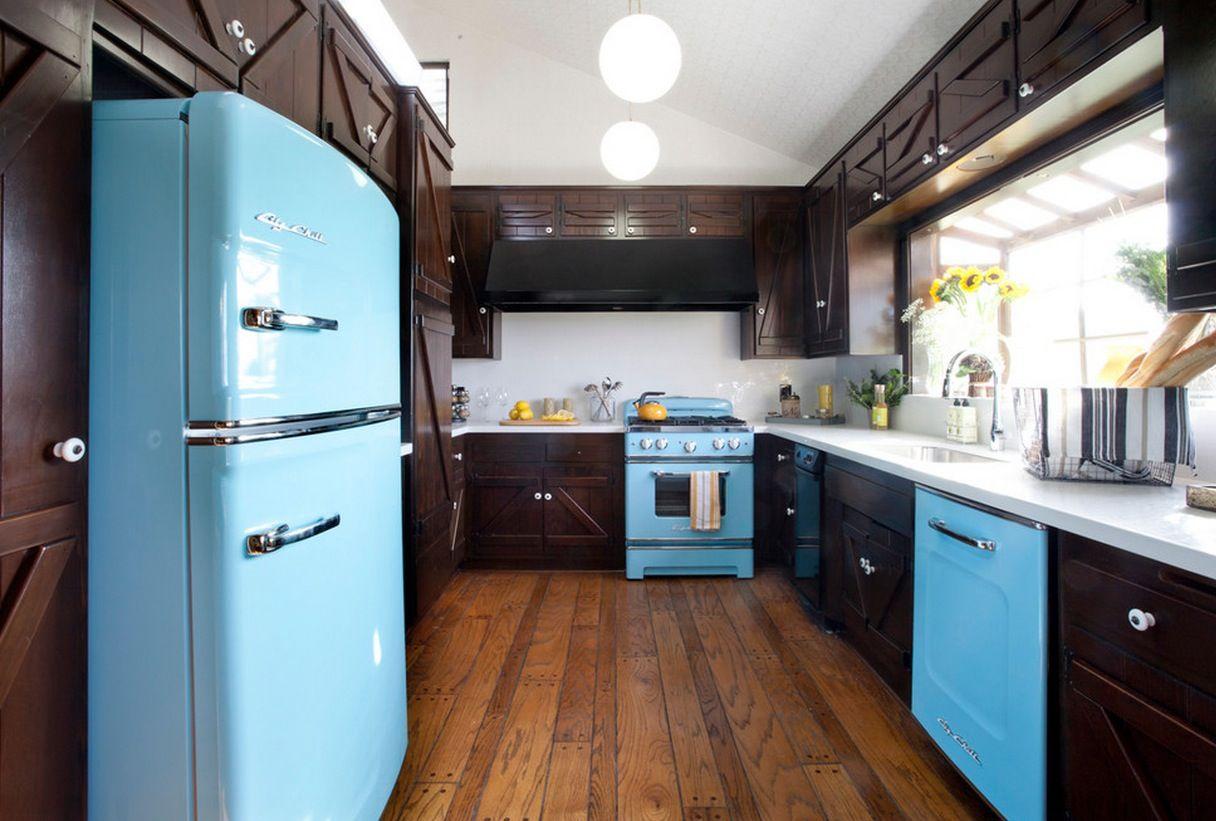 Hãy để màu sắc phòng cách retro làm nguồn cảm hứng phần nhà bếp của bạn