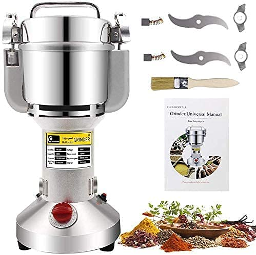 CGOLDENWALL 1500W Safety Upgraded Electric Grain Grinder Mill