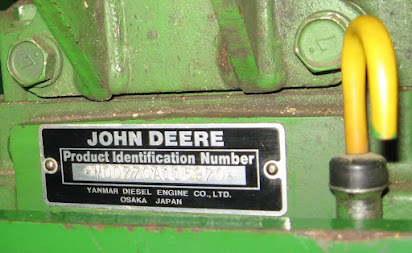 John deere engine serial number