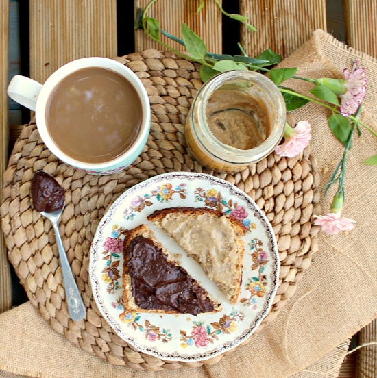 Date Sweetened Nutella: this heavenly spread has 3 times fewer calories than storebought, and it's vegan and paleo too!