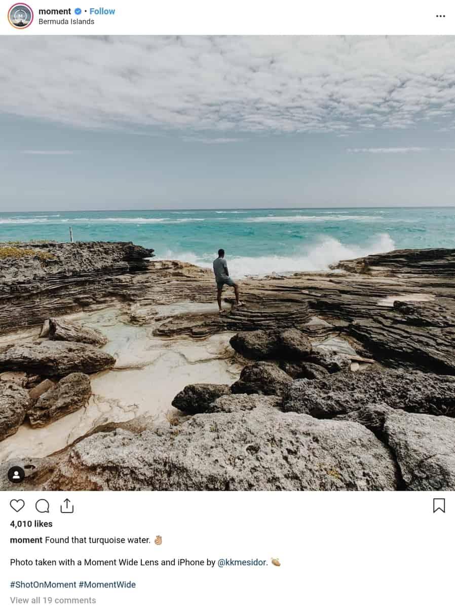 recorde do perfil moment no instagram compartilhando conteúdo de usuários