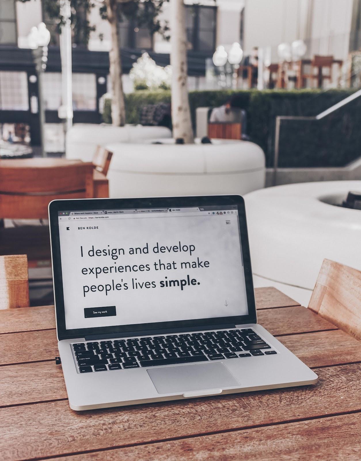 web design written content