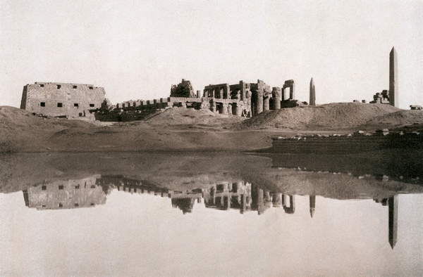 Image of Karnak temple complex. Late 19th century photograph. Located on the east bank of the Nile River in Thebes (modern Luxor), Karnak temple complex, © Lebrecht History / Bridgeman Images