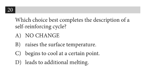 SAT Writing and Language: Example Question