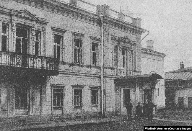Фасад помещения Московского комитета РКП(б) после взрыва