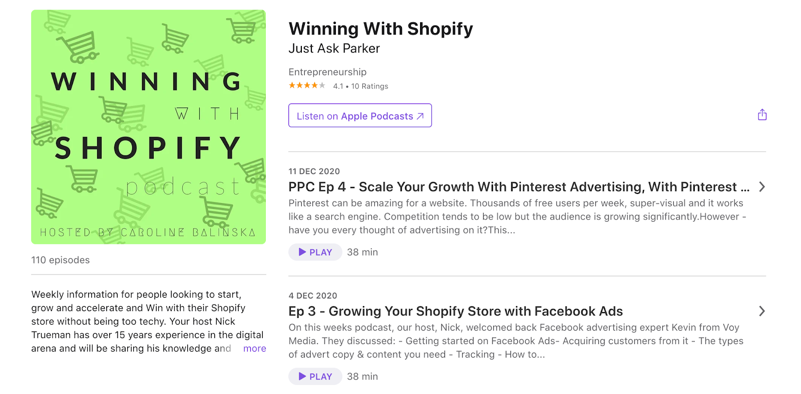 Nick  Trueman   Winning with Shopify Podcast