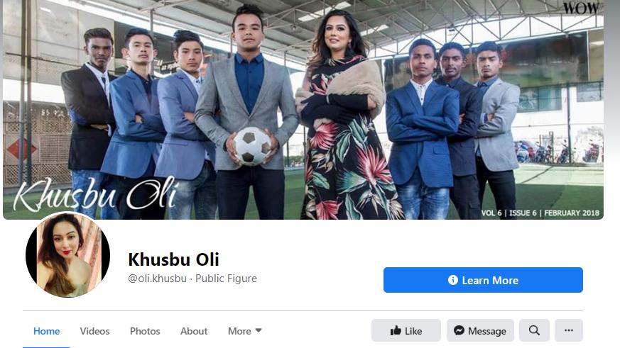 Khusbu Oli facebook