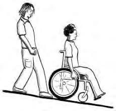 xuống dốc xe lăn