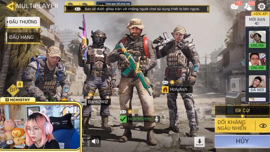 Xem MisThy 'xả súng' ở Call of Duty: Mobile VN