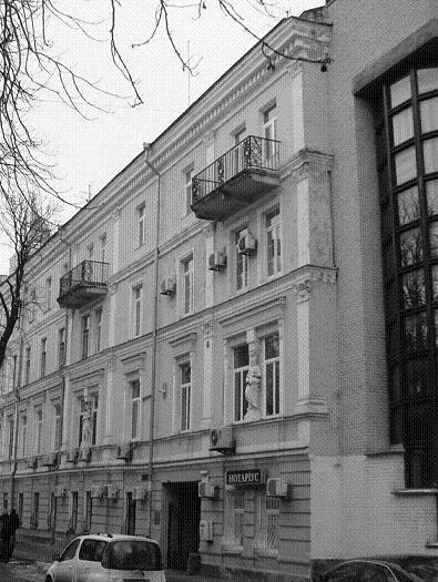 Ул. Липская, 9, современный вид, особняк Бродского. В 1919 г. во дворе этого дома чекисты производили массовые расстрелы
