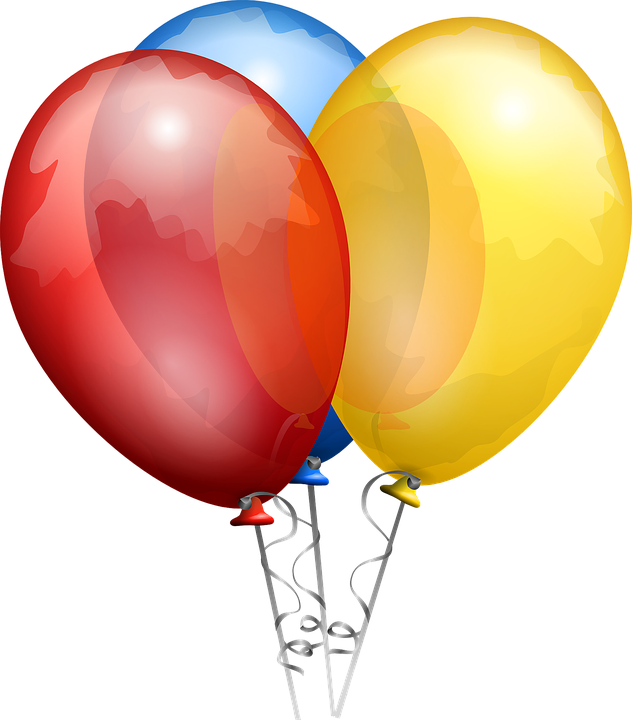 Free vector graphic: Balloons, Red, Blue, Yellow, Shiny - Free ...