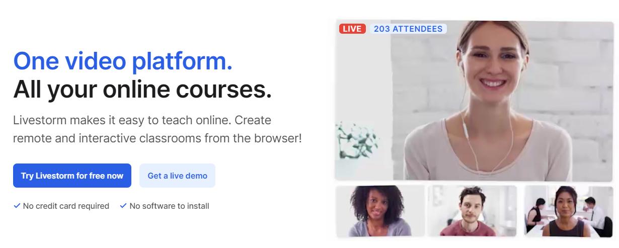 Livestorm advantages into one video platform