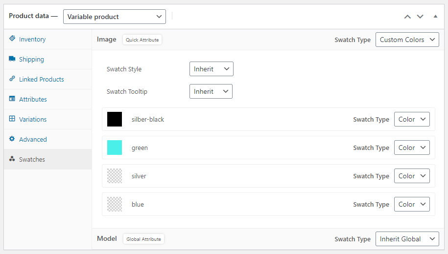 WooCommerce color attribute