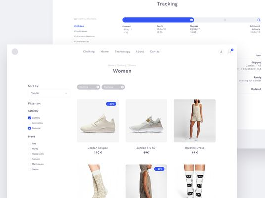 Filters on ecommerce website