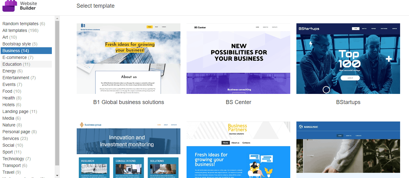 Namecheap Site Templates