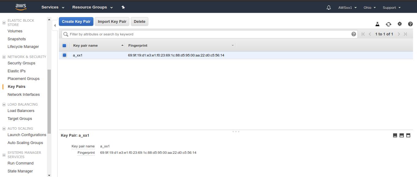 Amazon AWS instance 1