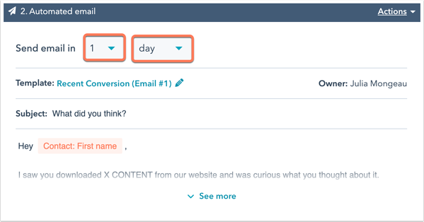 HubSpot Sales starter features