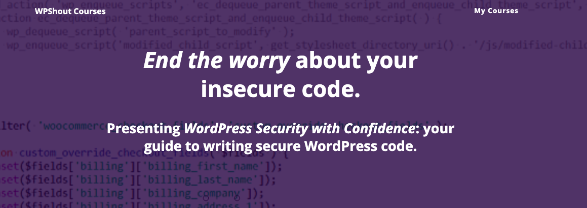 WordPress security blog