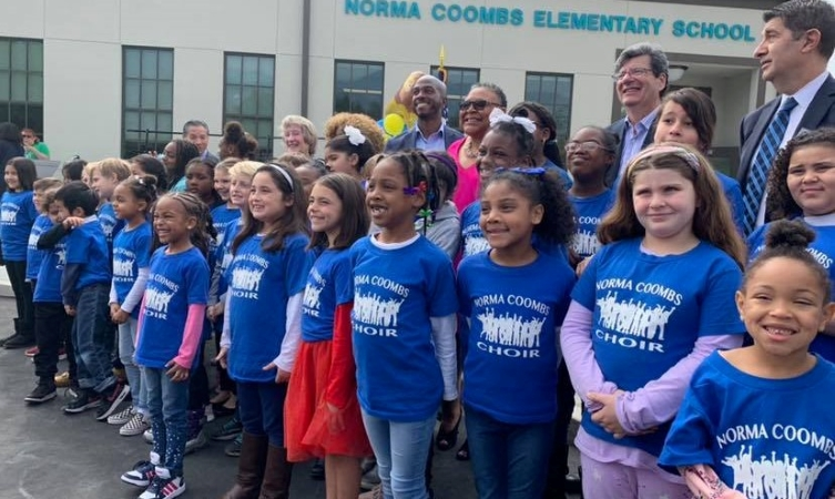 Norma Coombs Elementary students in Pasadena, CA
