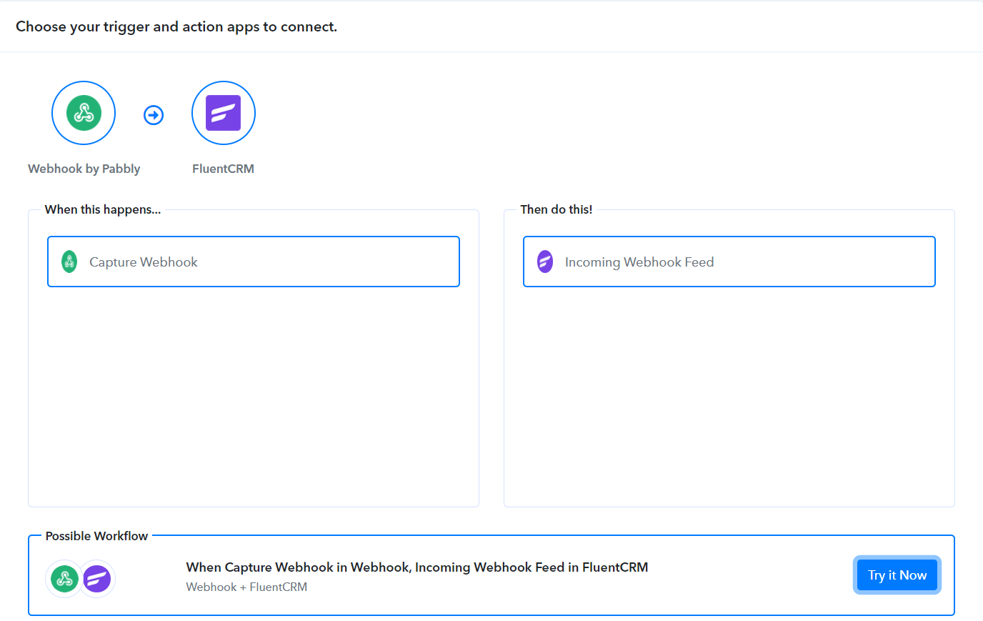 pabbly connect webhook and fluentcrm integration