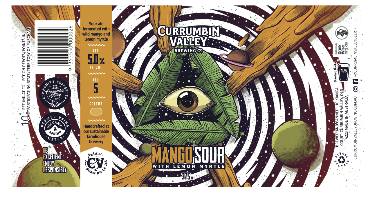 Currumbin Valley Brewing - Mango + Lemon Myrtle Sour