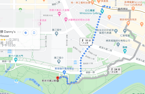 美堤河濱公園路線
