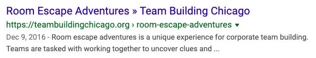 example of unique title separator