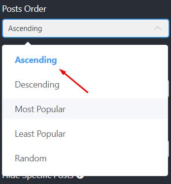 Twitters settings posts order