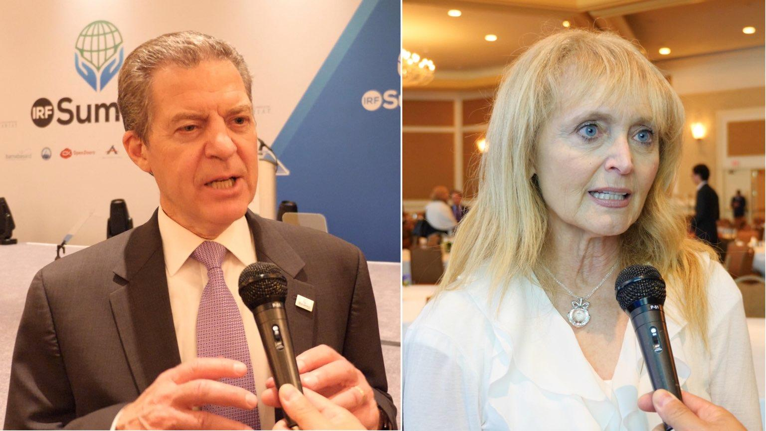 Ambasciatore Sam Brownback  e copresidente Katrina Lantos Swett