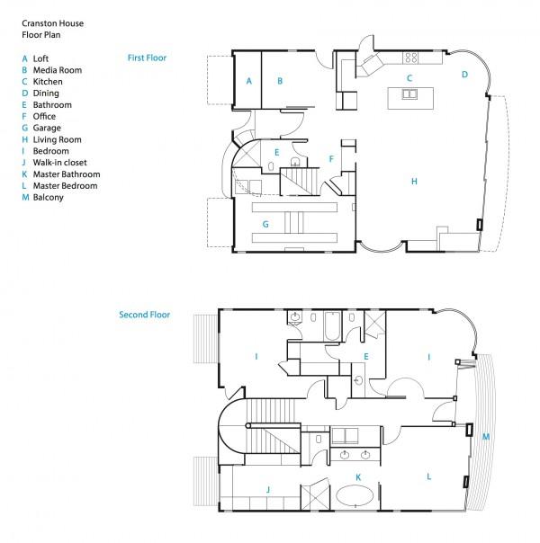 Floor plan beach house milik Bryan Cranston - source: home-designing.com