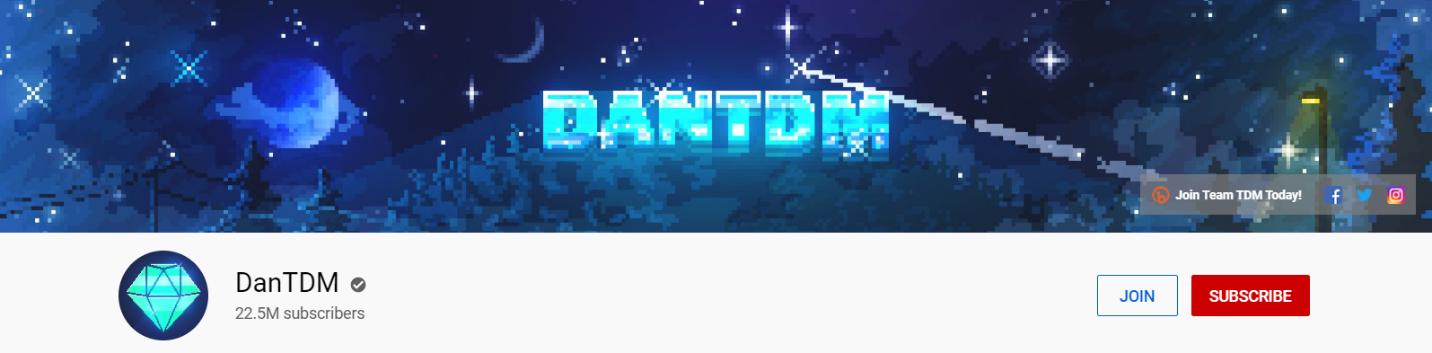 DanTDM YouTube channel