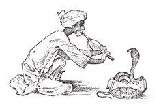 węża-podrywacz-mężczyzna-bawić-się-flet-dla-hipnotyzuje-kobra-w-india-sztuczka-pungi-żmij-ręka-rysująca-i-105248609