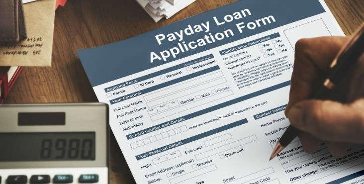 payday loans application in paper