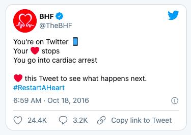 The BHF Twitter