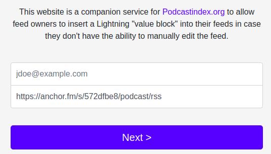 Comment ajouter Lightning à Podcastindex.org
