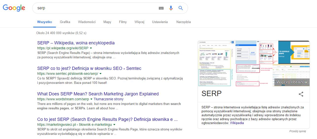 SEO Title w Google SERP