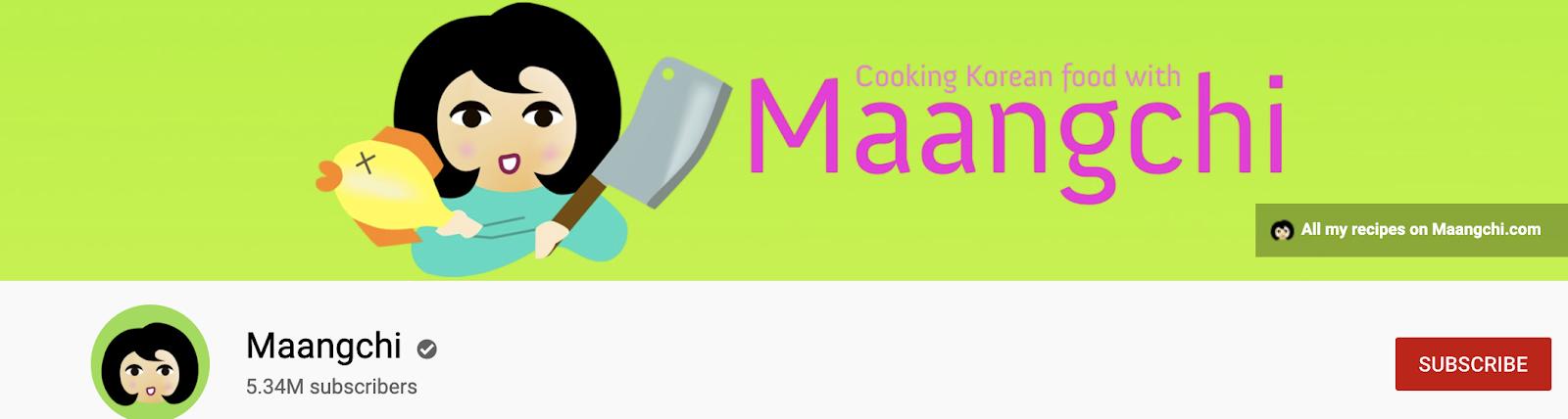 Maangchi | YouTube Profile Banner