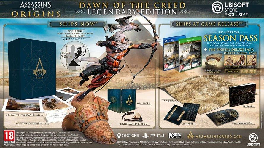 Assassin's Creed Origins Dawn of the Creed Legendary Edition