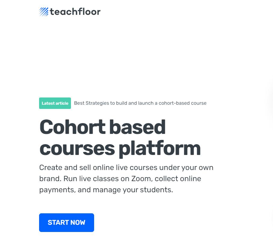 Screenshot of Teachfloor - Cohort Based Course Platform