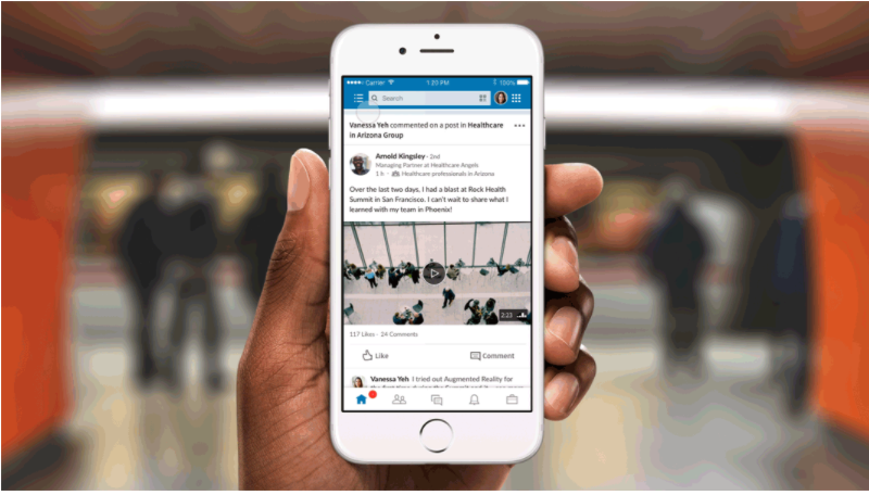 You can access LinkedIn Groups from your mobile