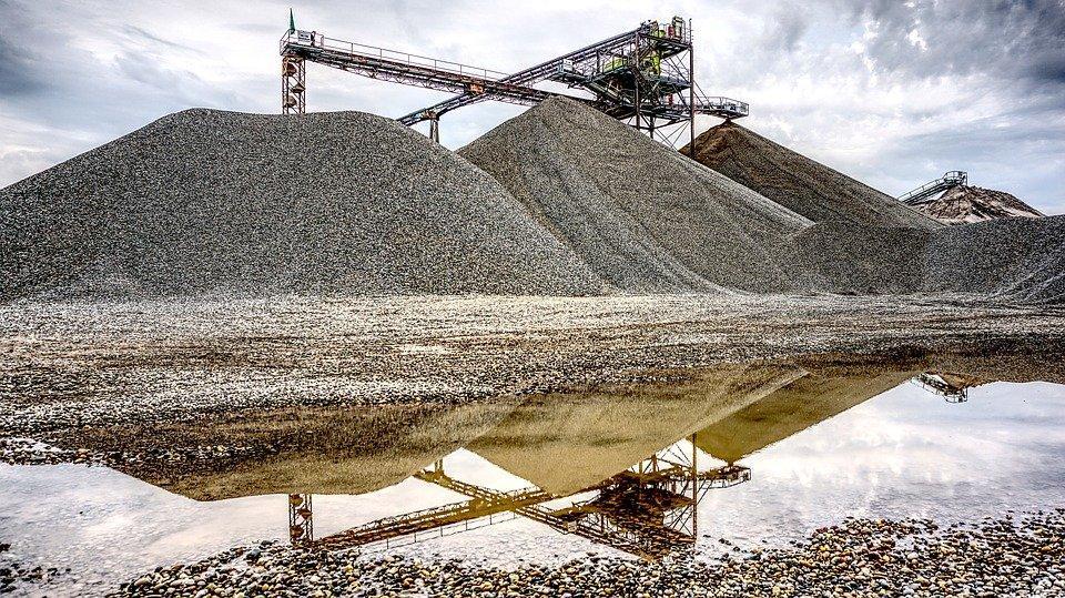 Kieswerk, Mineração A Céu Aberto, Matérias Primas