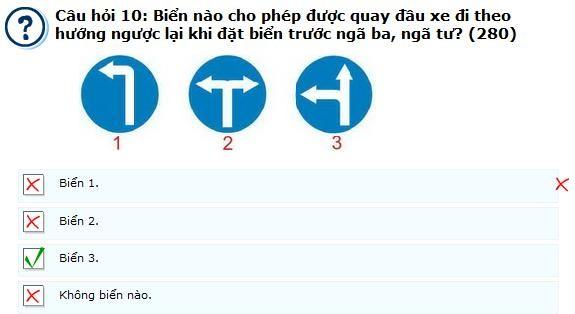 Câu hỏi 280 - câu hỏi khó thi lý thuyết bằng lái ô tô