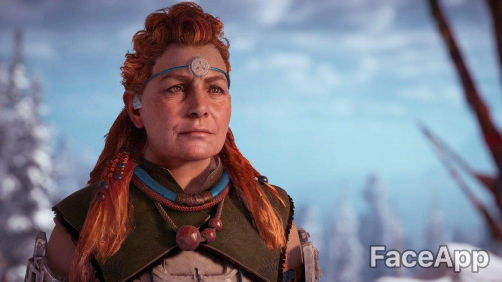 horizon zero dawn, faceapp, aloy