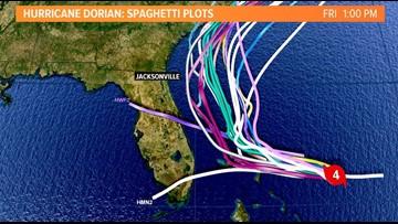 Ensemble hurricane plot