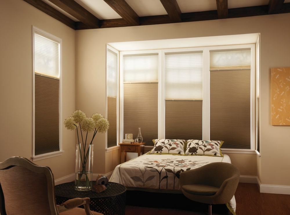 Bedroom Window Treatment Ideas with Cellular Shades