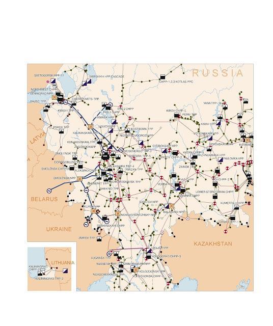 Sieć energetyczna Rosji z 2002 roku