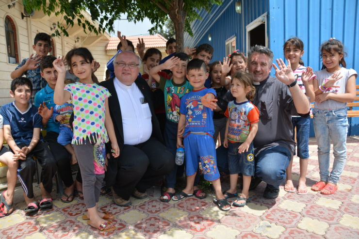 ACN Communications Trip Middle East, 17 – 25 May 2016Chaldean Catholic Mar Elia Refugee Camp, Fr Douglas Barzi and Fr. Dr. Andrzej Halemba, Erbil, Iraq