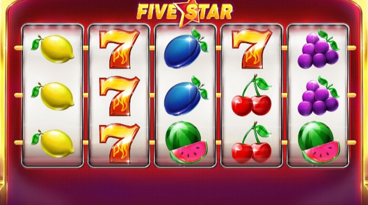Red Tiger's five star classic slot game screenshot