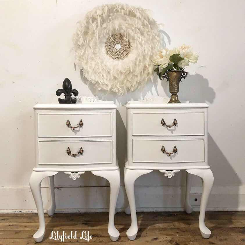 white French bedside tables lilyfield Life