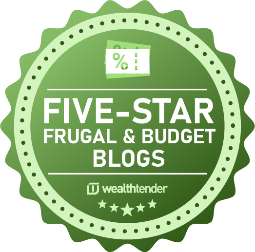 Five Star Frugal & Budget Blogs Badge
